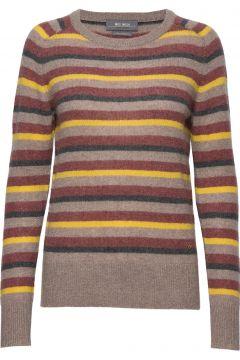 Marbel Stripe Cashmere Strickpullover Bunt/gemustert MOS MOSH(114152353)