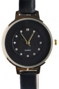 Montre Michael John Fin bracelet montre femme noir dore strass classe Prestya(88629546)