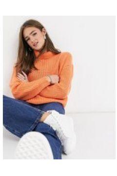 Threadbare - Grace - Maglione stile pescatore accollato lavorato a maglie grosse-Arancione(124088860)