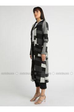 Black - Multi -- Cardigan - MOODBASİC(110339155)