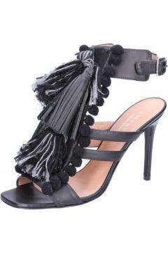 Sandales Twin Set TWIN-SET sandales noir cuir gris textile AB893(115393879)