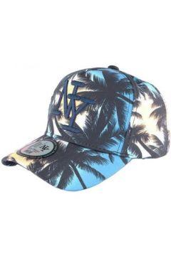 Casquette Hip Hop Honour Casquette NY Bleue et Beige Baseball Fashion Tropical Night(127976966)