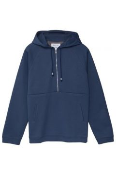 Sweat-shirt Hamilton And Hare Mid Zip Raglan Hooded Sweat Slate(98720229)