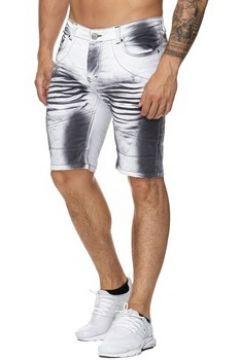 Short Kc 1981 Short jeans fashion homme Short 3226 blanc(88454521)