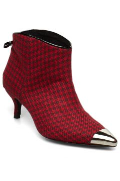 Aniv Houndstooth Shoes Boots Ankle Boots Ankle Boots With Heel Rot CUSTOMMADE(114159623)