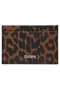 Card Holder Leather Bags Card Holders & Wallets Card Holder Braun GANNI(117467351)