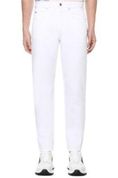Isabel Marant Erkek Jack Beyaz Normal Bel Dar Paça Jean Pantolon 30 US(109265328)