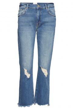 Milan Denim Straight Jeans Hose Mit Geradem Bein Blau LINE OF OSLO(114152877)