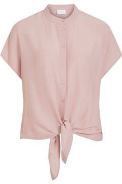 VILA Korte Mouwen Knoopdetail Vooraan Overhemd Dames Pink; Purple(114504785)