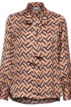 Lori Ls Shirt Bluse Langärmlig Braun SECOND FEMALE(114153582)