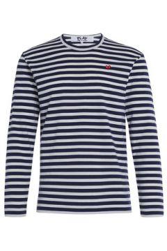 T-shirt Comme Des Garcons Pull Play by Comme des Garçons à rayures blanches et bleues(115417903)