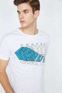 Koton Erkek Baskili T-Shirt(113783553)