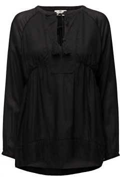 Issie Tunic Bluse Langärmlig Schwarz LEXINGTON CLOTHING(108941275)