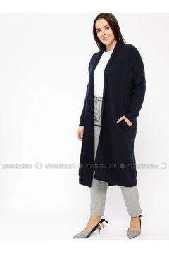 Navy Blue - Wool Blend - Viscose -- Knitwear - Minimal Moda(110331358)