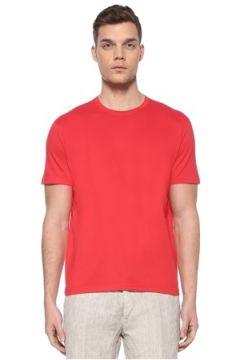Kiton Erkek Kırmızı Basic T-shirt XXL EU(107864085)
