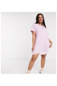 """Daisy Street Plus - Vestito T-shirt oversize con scritta \""""Los Angeles\""""-Rosa(120329119)"""