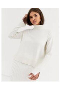 Micha Lounge - Maglione accollato elegante in misto lana in coordinato-Crema(112349184)