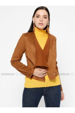 Tan - Unlined - Shawl Collar - Jacket - Pitti Collection(110322740)