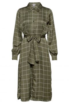 Lisa Long Shirt Dress Kleid Knielang Grün TWIST & TANGO(117773608)