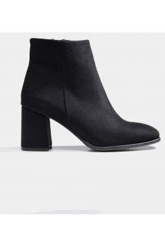 Hotiç Siyah Yaya Kadın Bot & Çizme(124528478)