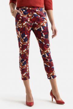 Pantalón tobillero slim con estampado floral(108523092)