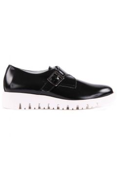 Derby-Schuhe mit weiße Sohle(112328135)