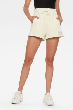 G-Star RAW Women High Waist Sweat Shorts Green(117926451)