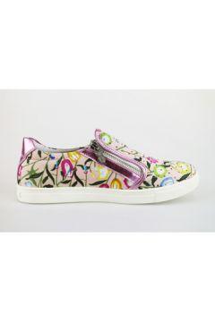 Chaussures enfant Didiblu slip on rose cuir toile strass AG479(115393470)
