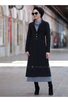 Black - Fully Lined - Shawl Collar - Jacket - Piennar(110333294)