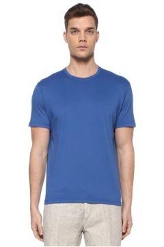 Kiton Erkek Mavi Basic T-shirt L EU(107864084)