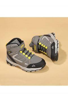 Jump Unisex Çocuk Gri Termal Astarlı Spor Bot Ayakkabı 25808(124152613)