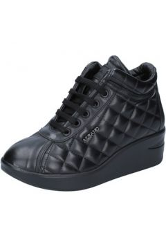 Chaussures Albano sneakers noir cuir BY883(115401606)