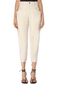 Isabel Marant Kadın Gubaia Beyaz Yüksek Bel Crop Pantolon 34 FR(117771908)
