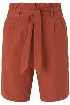 TOM TAILOR Damen Paperbag-Shorts aus Leinengemisch, orange, Gr.36(111110167)