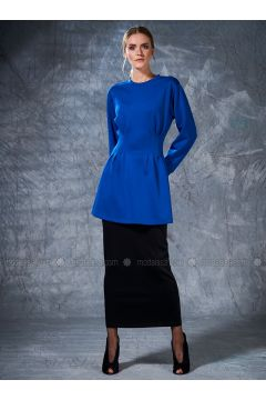 Crew neck - Saxe - Sweat-shirt - Eda Atalay(110331501)