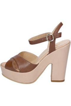 Sandales Olga Rubini sandales marron cuir beige BY317(115401100)