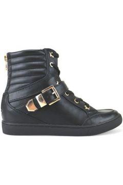 Chaussures Francescomilano sneakers noir cuir AJ229(115399887)