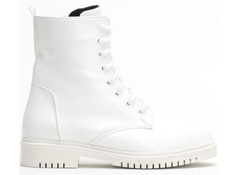 Ayakkabı Modası Beyaz Cilt Kadın Bot(110929333)