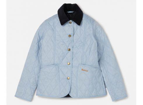 Barbour Girls\' Summer Liddesdale Jacket - Powder Blue/Navy - XXS/2-3 years(69398193)