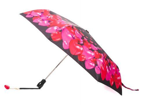 Moschino parapluie à cœurs imprimés - Rose(76696158)
