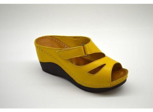 PALOMA Kadın Hardal Renk Hakiki Deri Yüksek Topuklu Terlik(124151101)