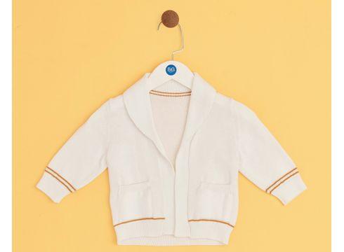 BG Baby Beyaz Erkek Bebek Hırka(114005806)
