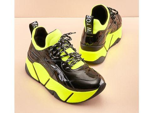 Bambi Siyah Kadın Sneaker(124317959)