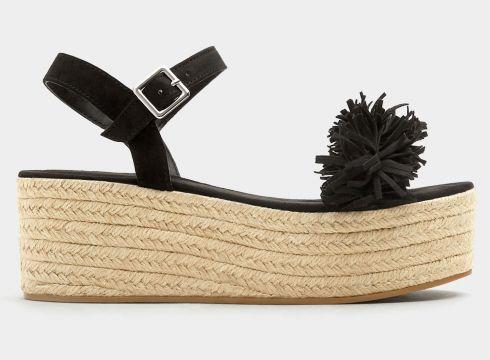 Czarne fantazyjne buty na koturnie z juty(53062885)