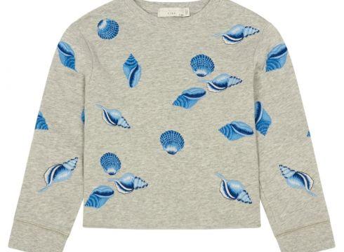 Sweatshirt aus Bio-Baumwolle Crop Muschel Stickerei June(113868122)