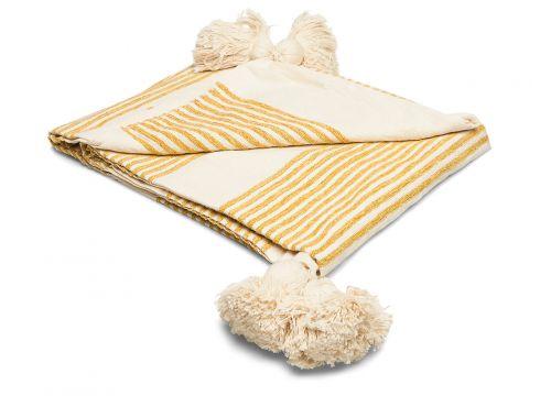 Throw Decke Creme BLOOMINGVILLE(97117975)