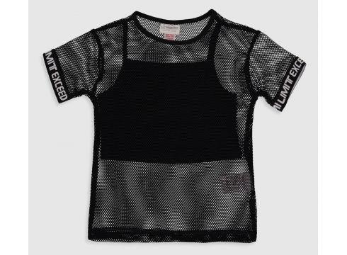 Çocuk Kız Çocuk File Tişört ve Atlet(109143822)