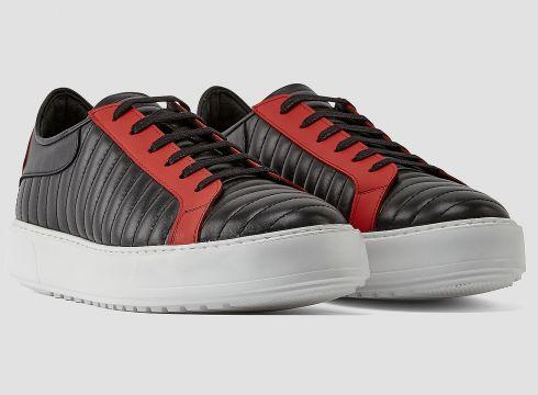 883 Police Sante Black Red Mens Designer Sneaker(85139124)