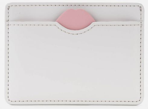 Lulu Guinness Women\'s Lip Cut Out Cate Cardholder - Oyster(69398472)