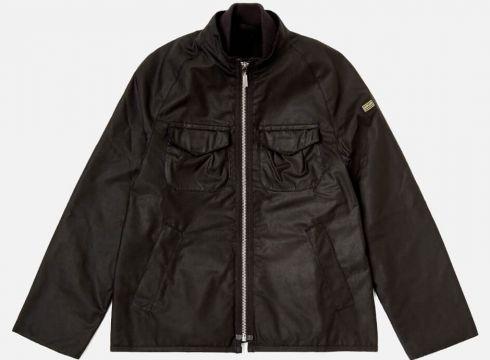 Barbour Boys\' Bar Wax Jacket - Black - 2-3 years/XXS - Schwarz(50509279)